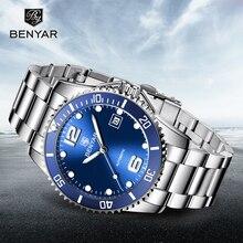 New BENYAR Automatic Watch Men Mechanical Mens Watches Top Brand Luxury Clock Luminous Tourbillon Business Relogio Masculino