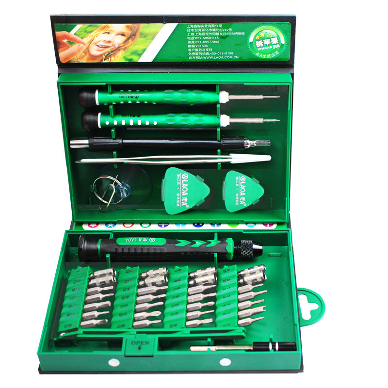 Купить с кэшбэком 38 in 1 mobile phone repair kit Spudger Pry opening tool screwdriver set for iPhone manual tool kit  hand tools