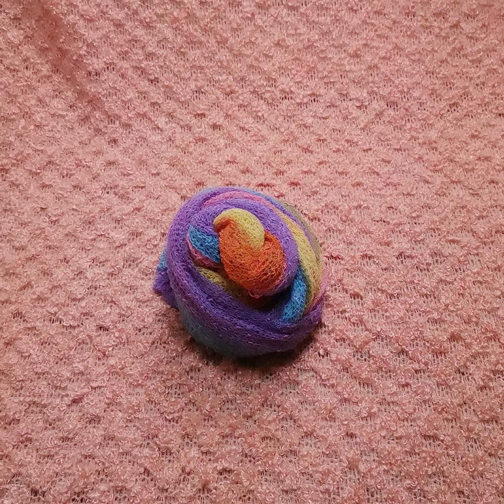 Don&Judy 2pcs/set 150X100cm Fabric Backdrop+ 140x30cm Rainbow Stretch Wrap Photography Photo Prop Newborn Blanket Background