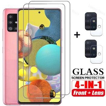 4in1 Tempered Glass for Samsung A51 A71 A50 A30 A21S A31 A02S A32 Screen Protector Camera lens Film  for Samsung A72 A52 glass 1