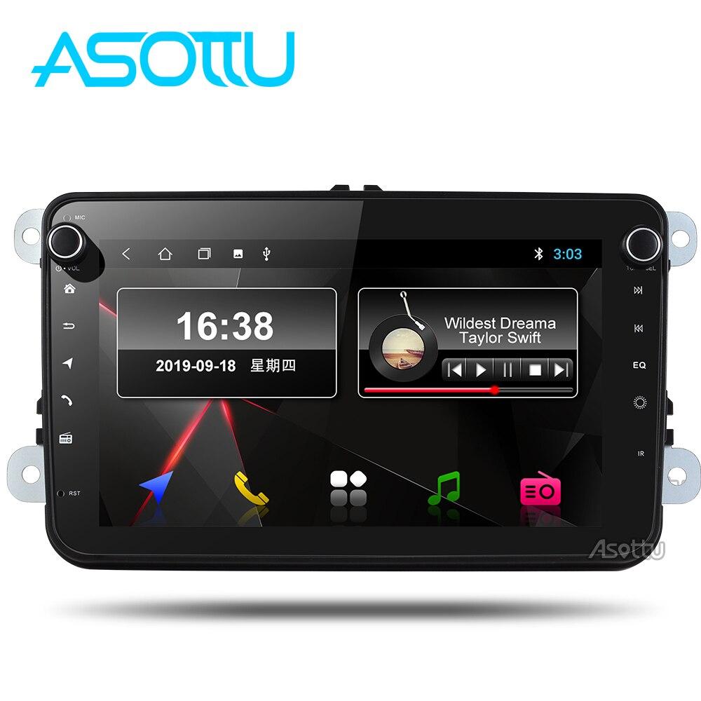 Asottu VW301 android 9,0 PX30 автомобильное радио 2 din для skoda для vw golf 6 7 polo tiguan passat b6 b5 gps плеер автомобиля