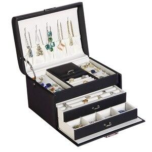 Image 5 - 2020 新しい高品質ジュエリーボックス 3 層スタッドピアスジュエリー収納ボックスジュエリーディスプレイ美しいギフト
