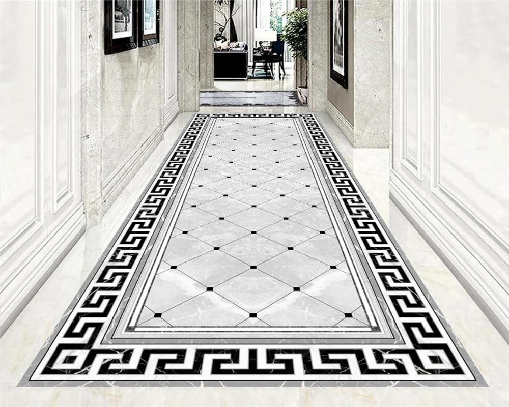 Beibehang Custom Modern Papel De Parede Wallpaper Ultra Clear Luxury Atmosphere High-grade Aisle Corridor Carpet Floor Parquet