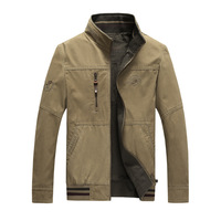 8536 zhan di ji pu Great Wall Outdoor Men Casual Spring And Autumn Reversible Jacket Pure Cotton Coat Large Size Stand Collar To