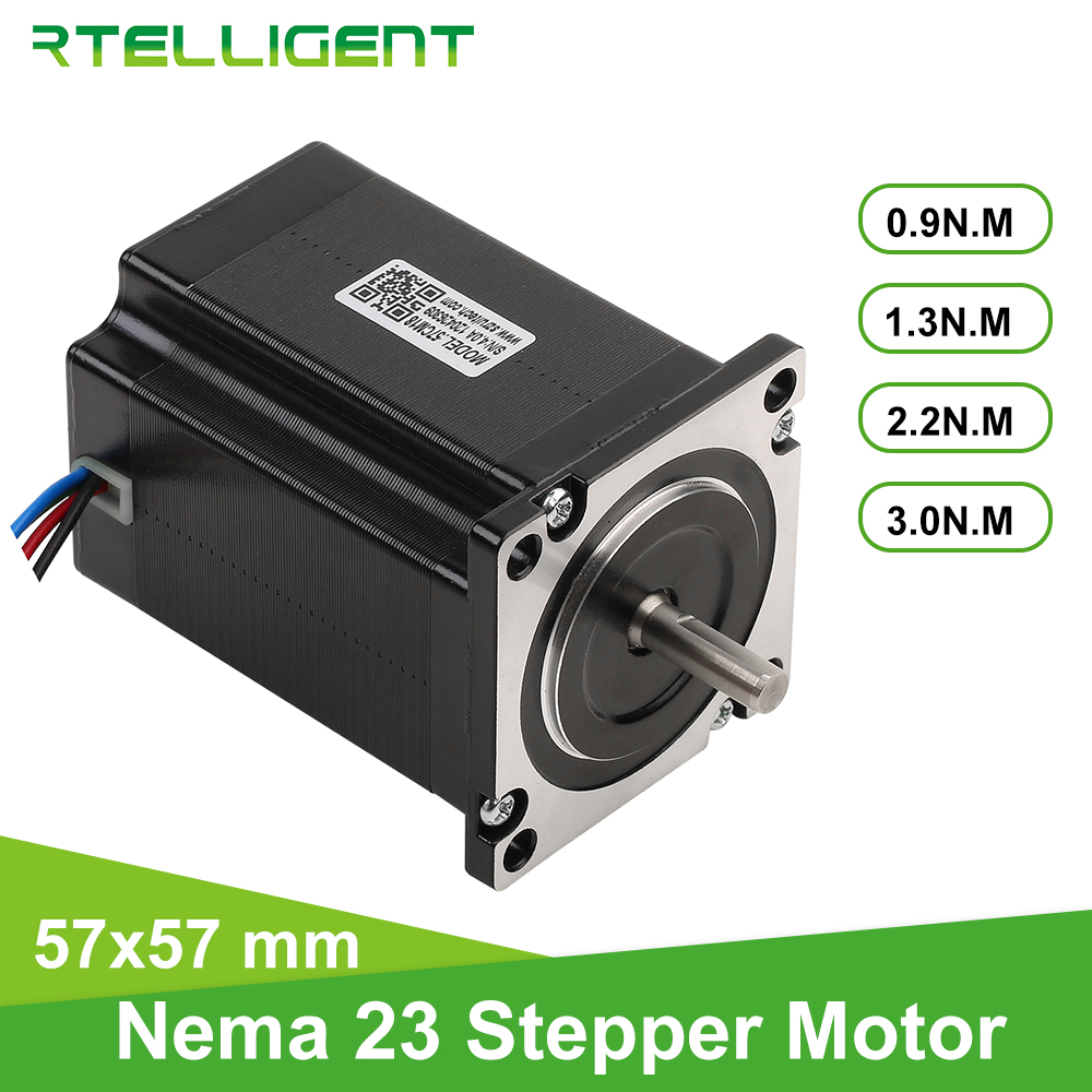 Rtelligent 57CM18 Nema 23 Stepper Motor 0.9NM-2.2NM 4-lead 57mm Flange Stepping Motor For CNC Engraving Milling Machine