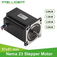 Rtelligent-Motor paso a paso 57A3 Nema 23 para fresadora de grabado CNC, Motor paso a paso de brida de 57mm, eje D de 4 Plomo, 1/2,2/3 n. M