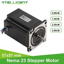 Rtelligent Motor paso a paso 57A3 Nema 23, 1/2,2/3 n. M, eje D de 4 conductores, Motor paso a paso de brida de 57mm para fresadora de grabado CNC