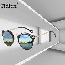 Vintage Retro Women Sunglasses Brand Designer Fashion Round Cat Eye Oversized Sun Glasses for UV400 Tidien 2007