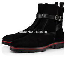 Qianruiti autumn winter Suede Men Boots Fashion Design Low-heeled Ankle Style Man Boots with platform hot sale 2019