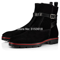 Qianruiti Suede Men Boots Fashion Ankle Style Man Boots Design autumn winter Low heeled with platform hot sale 2019
