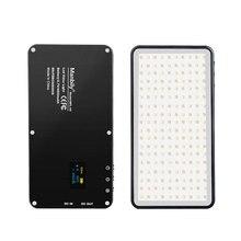 Manbily MFL 06 Mini taşınabilir fotoğraf aydınlatma ultra ince 4500mAh LED Video ışığı 180 LED dolgu ışığı yüksek CRI>96 kamera