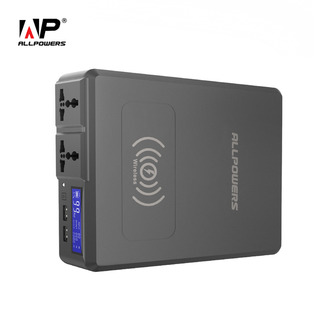 $ US $129.99 ALLPOWERS Power Bank 154W 41600mAh Super High Capacity External Battery Charger Portable Generator with AC/DC/USB/Wireless etc.