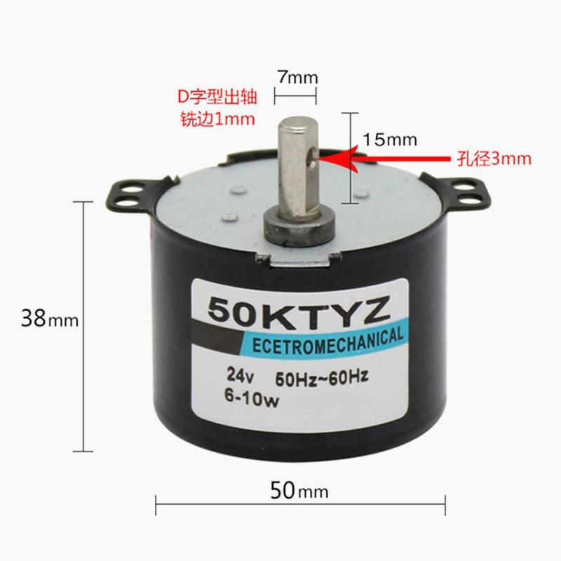 4//4,8 giri//min motore elettrico per apparecchiature mediche piccolo motore sincrono AC TYD-50 Chanss AC 220V CCW