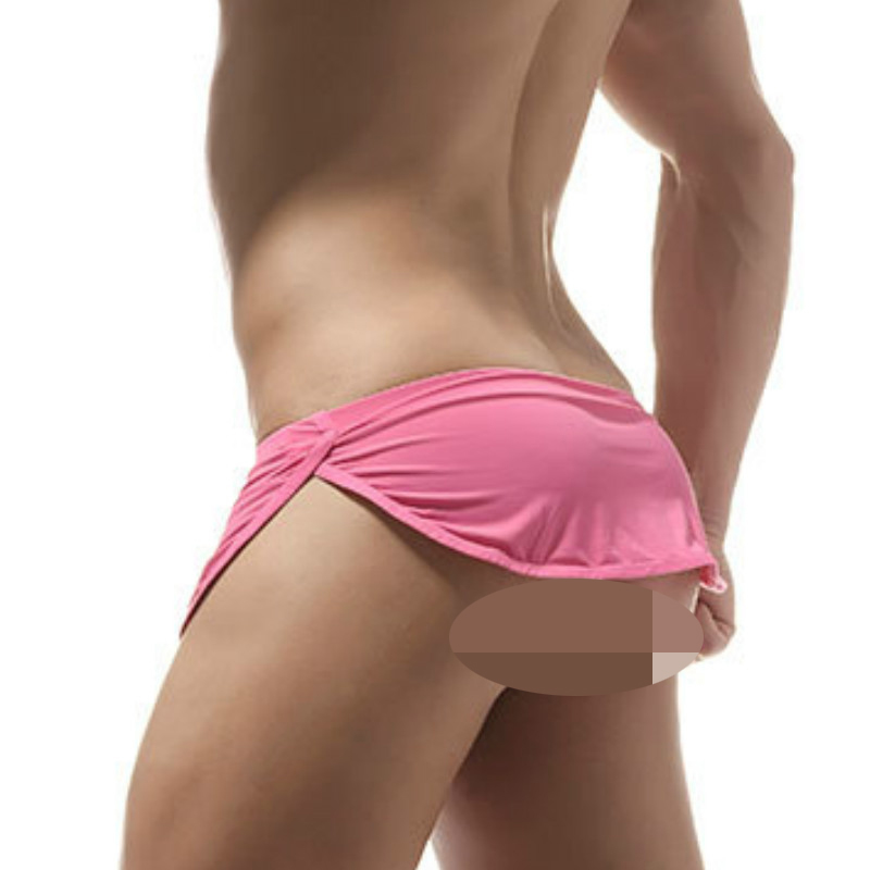 Men's Arrow Style Fashion Show Hot Hip Sexy Ice Silk Smooth Box Cock Pocket Underwear