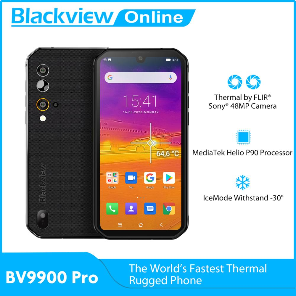 Blackview BV9900 Pro Helio P90 Thermal Camera Smartphone 8GB 128GB Android 10 IP68 Waterproof Rugged Mobile Phone 4G Cellphone