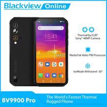 Blackview BV9900 Pro Helio P90 kamera termowizyjna Smartphone 8GB 128GB Android 10 IP68 wodoodporny wytrzymały telefon komórkowy 4G telefon komórkowy tanie tanio Nie odpinany CN (pochodzenie) Rozpoznawania linii papilarnych Rozpoznawania twarzy Inne 48MP 4380 Adaptacyjne szybkie ładowanie