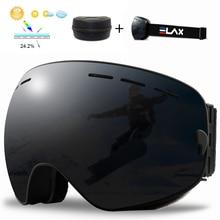 ELAX Ski Goggles Men Women Winter Anti-Fog Snow Ski Glasses With Box Double Layers UV400 Snowboard Eyewear Skiing Glasses