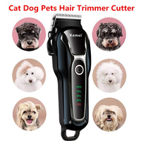 Electrical Pet Hair Trimmer Rechargeable Pet Dog Cat Low noise Hair Clipper Grooming Shaver Cut Machine Set for pet 100 240v