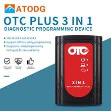 OTC בתוספת 3 ב 1 אבחון כלים לניסן להתייעץ עבור טויוטה אינטליגנטי בודק עבור וולוו וידה קוביות OBD סורק GTS עם HDD