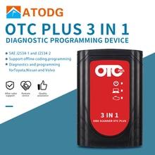 OTC Plus 3 в 1 диагностические инструменты для nissan проконсультируйтесь с toyota интеллектуальный тестер для volvo vida dice OBD сканер GTS с HDD
