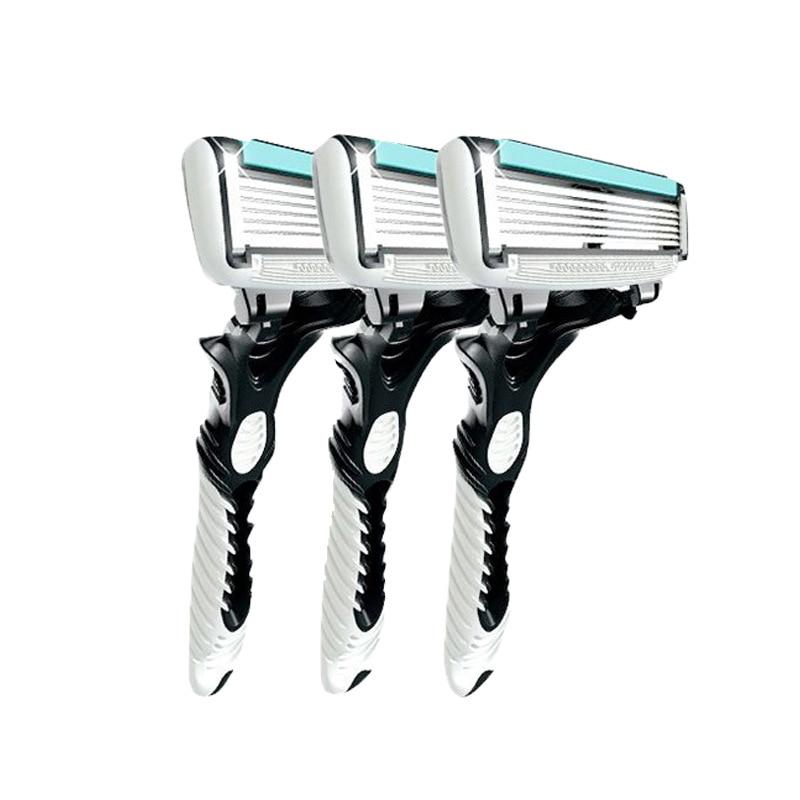 387.51руб. 30% СКИДКА|3 шт./лот бритва Для мужчин 6 лезвия бритвы лезвие для Для мужчин бритья DORCO с розничной посылка|Бритва| |  - AliExpress