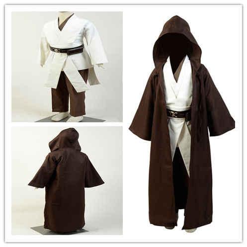 Child Star Cosplay Wars Jedi Costume Obi Wan Kenobi Cosplay Costume Tunic Cloak Halloween Costumes For Kids Children Gift| | - AliExpress
