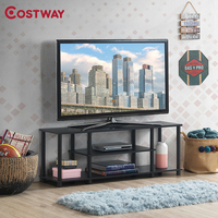 COSTWAY 3 Tier TV Stand Entertainment Media Center Console Shelf HW63289