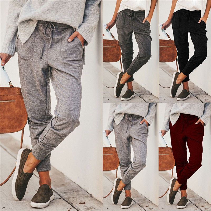 High Waist Loose Women Casual Harem Pants Baggy Slacks Long Trousers Leggings Sweatpants