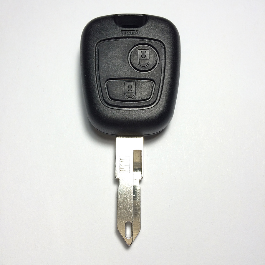 Hot Sale 2 Button Key Pouzdro Key Shell pro Peugeot 206 Car Key Shell Top A + kvalita s logem