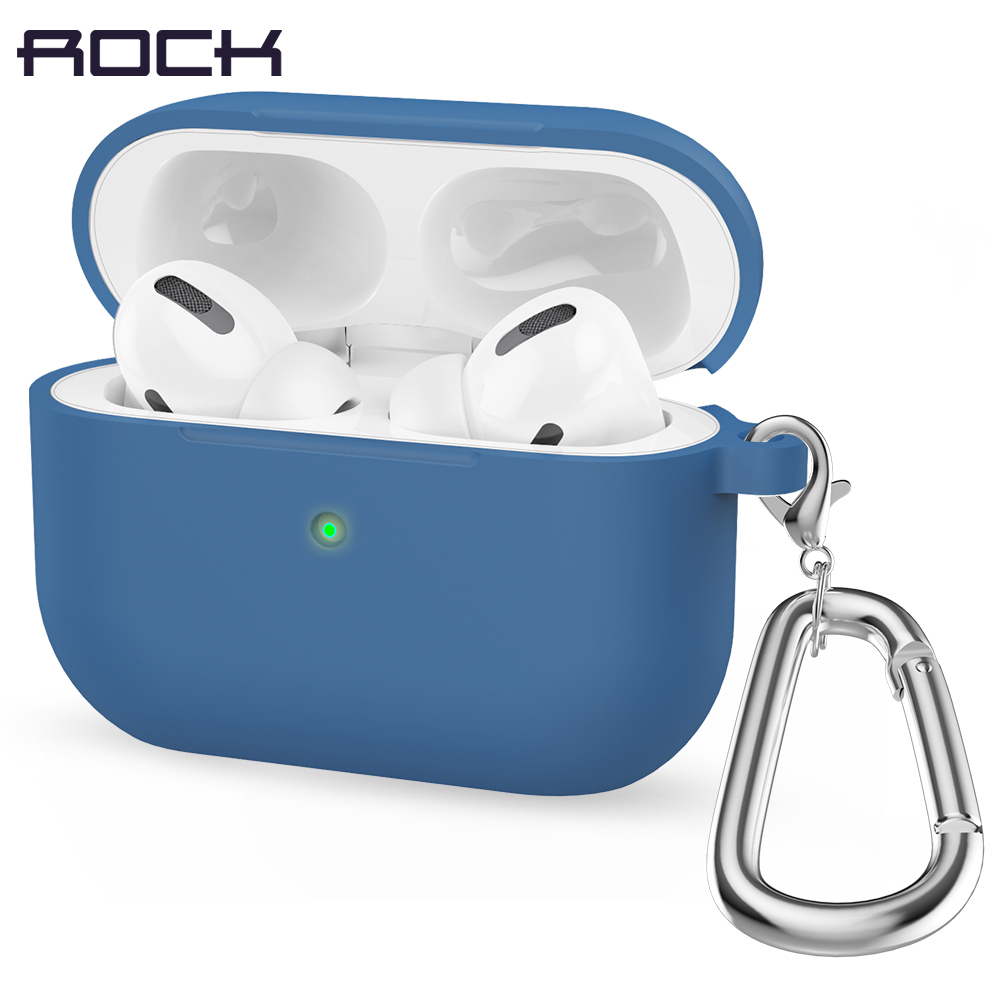 Rock Earphone Case For Airpods Pro Case Wireless Bluethooth Headphone Liquid Silicone Cute Case For Air Pods 3 Cover Funda Coque
