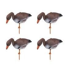 4個3Dプラスチックフローティング白鳥グースターゲット装飾シミュレーション屋外狩猟釣り庭の芝生ため池