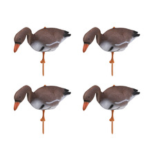 4pcs 3D Plastic Floating Swan Decoy Goose Target Decor Simulation Ornaments for Outdoor Hunting Fishing Garden Lawn Pond