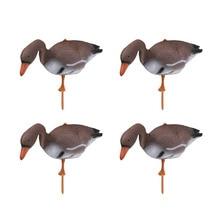 4pcs 3D plastica galleggiante cigno esca oca Target Decor ornamenti di simulazione per caccia allaperto pesca giardino prato stagno