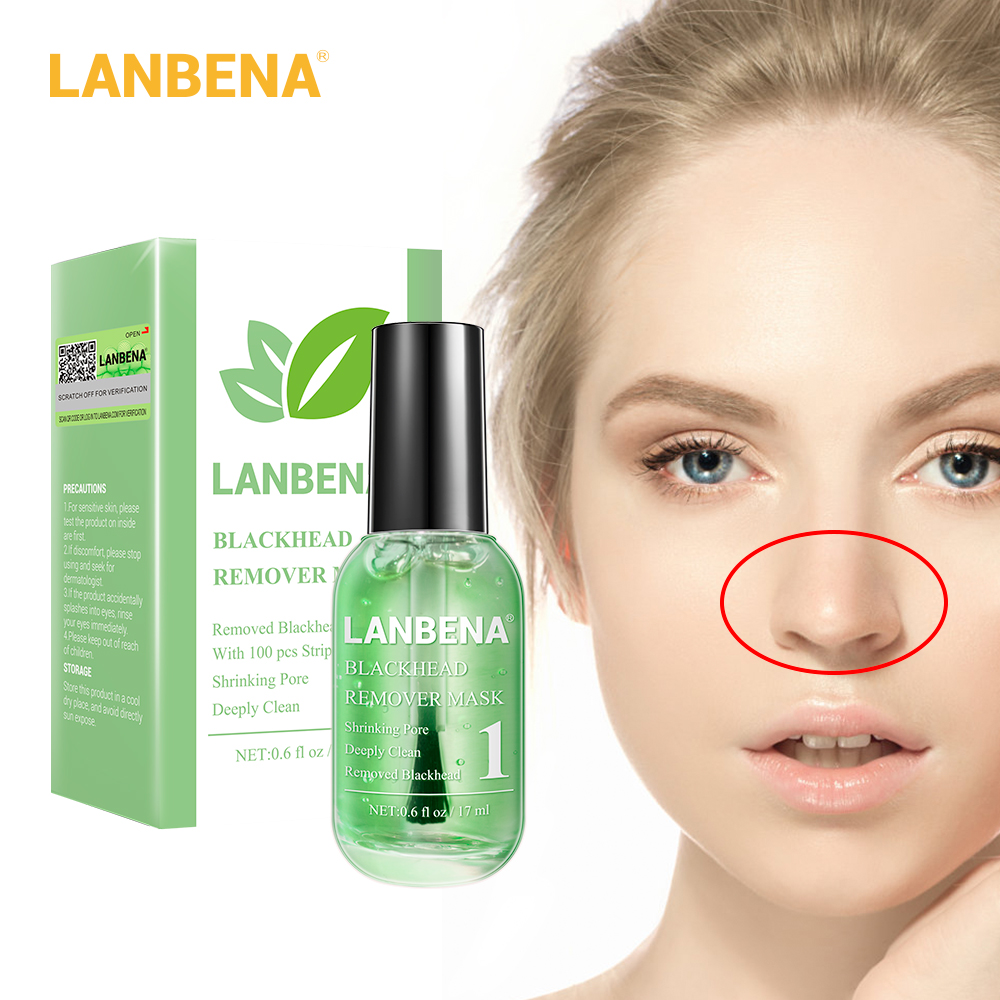 LANBENA Beauty Skin Care Blackhead Remover Mask Serum Deep Cleaning Shrink Pores Purifying Acne Treatment Essence Smooth 100PCS