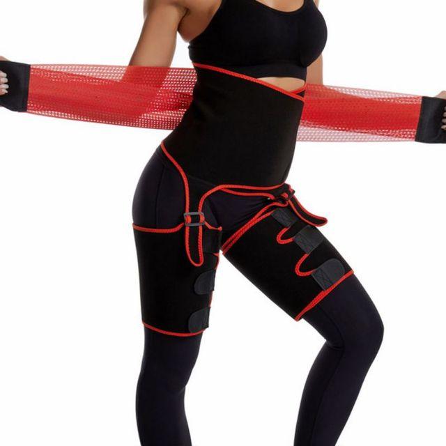 3 in 1 Adjustable Waist Bandage Sweat Body Shapers One-piece Hip Belt Arm Sweat Belt Buttocks Trainer Slimming Shaper Belt 3