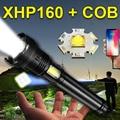 Extra helle XHP160 LED taschenlampe 18650 xhp100 xhp90 jagd Laterne XHP70 taktische taschenlampe USB aufladbare hand lampe licht