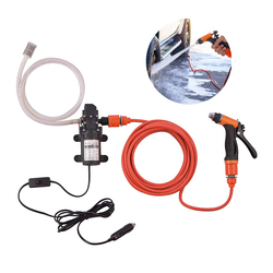 Car Wash High Pressure Pump 12V Water Pump Cigarette Lighter Pressure Washer Gun Car Cleaning Tools Portable Washing Machine