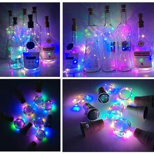 Image 5 - Solar Powered Wine Bottle Cork Shaped LED Copper Wire String Outdoor Light Garland Lights Festival Fairy Light DIY Christmas