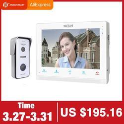 Tmezon 10 Inch Draadloze Wifi Smart Ip Video Deurbel Intercom Systeem, 1 Xtouch Screen Monitor Met 1X720P Wired Deurtelefoon Camera