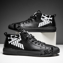 Superstar Fashion Letter Black Printed High top Sneakers Men Skateboard Shoes Seasons Comfortable Sport Shoes Men zapatos hombre