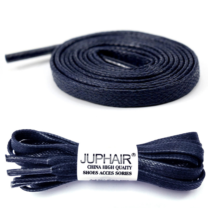 newest collection half off quite nice US $4.47 44% OFF|N 1 12 Pair Dark Blue Waxed Flat Shoelaces Sneakers Boat  Shoelace Unisex Lace Cable 100% Cotton Cheap Shoelaces Colorful Laces-in ...