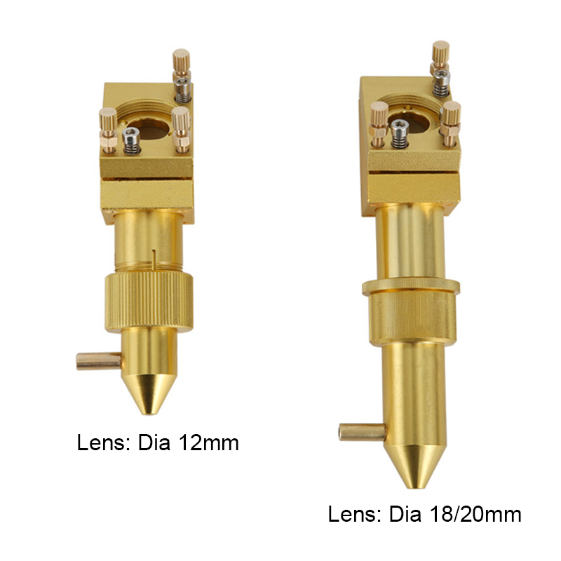 CO2 Laer Head 40W 50W K40 2030 3040 5070  Laser Engraving Cutiing Machine Lens Dia 12/18/20mm Focal Length 50.8mm Mirror 20mm