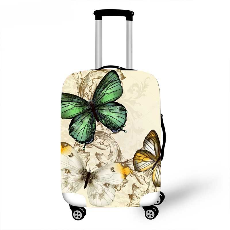 3D Butterfly Luggage Cover Suitcase Elastic Protection Covers 18-32'' Trolley Baggage Trunk Dust Case Cover Travel Accessories