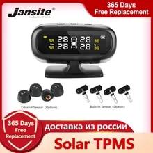 Jansite TPMS 자동차 타이어 압력 모니터 시스템 디스플레이 태양열 인텔리전트, 온도 경고, 연료 절약, TMPS 센서 4개, 진품
