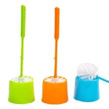 Творческий туалет щетка толстый пластик длинный ручка ванная чистка щетка с держателем основание для дома гостиницы ванной
