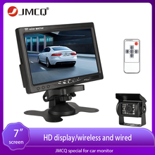 JMCQ 7 Inch Wired Car monitor Car Rear View Monitor Parking Rearview System for Backup Reverse Camera Parking Rear view System 2019 spring new women half sleeve loose flavour black dress long summer vestido korean fashion outfit o neck big sale costume