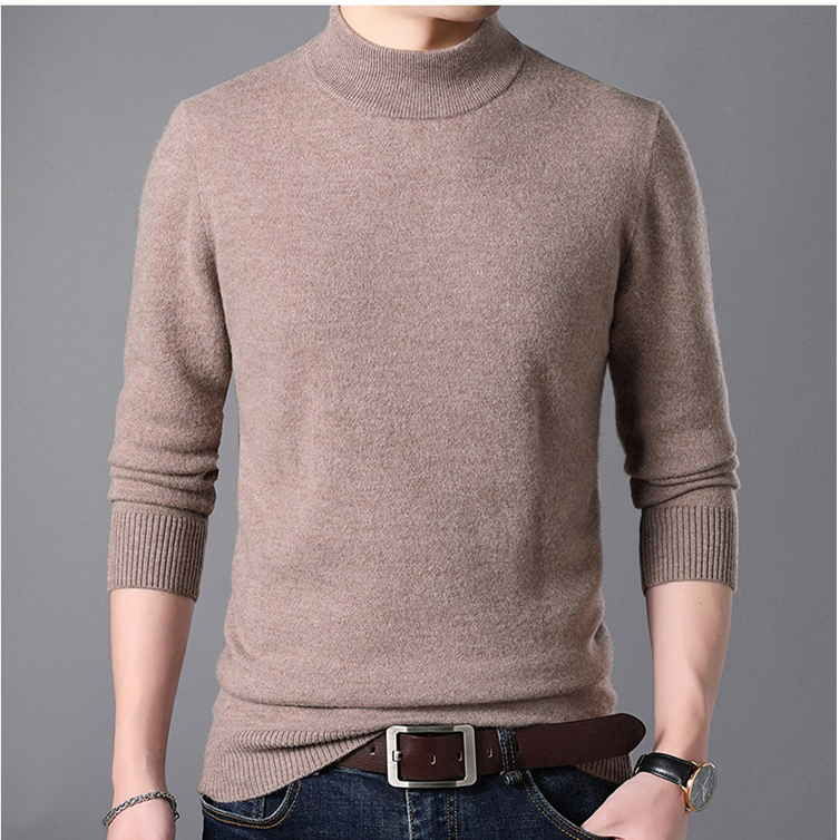 Half Turtleneck Cashmere Pullover Men Sweater Clothes For 2019 Autumn Winter Sueter Hombre Robe Pull Homme Hiver Mens Sweater