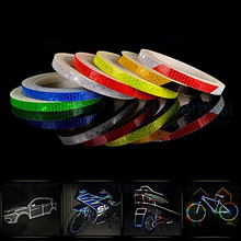Bike Safety Reflective Tape Fluorescent Warning Lighting Sticker  Adhesive Roll Strip for Beautify Bicycle Decoration
