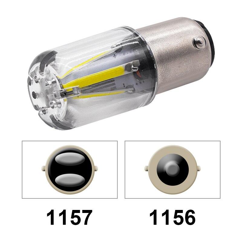 EURS 1 шт. 1156 P21W BA15S 1157 BAY15D COB светодиодный чип накаливания автомобильные тормозные огни автомобильная лампа заднего хода парковочная лампа 12 В ...