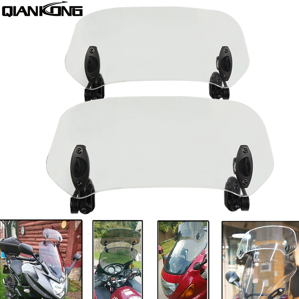 Airflow Adjustable Windscreen Wind Deflector Universal Motorcycle Windshield For YAMAHA XSR 700 900 ABS FZR 400 <font><b>600</b></font> <font><b>100</b></font> image